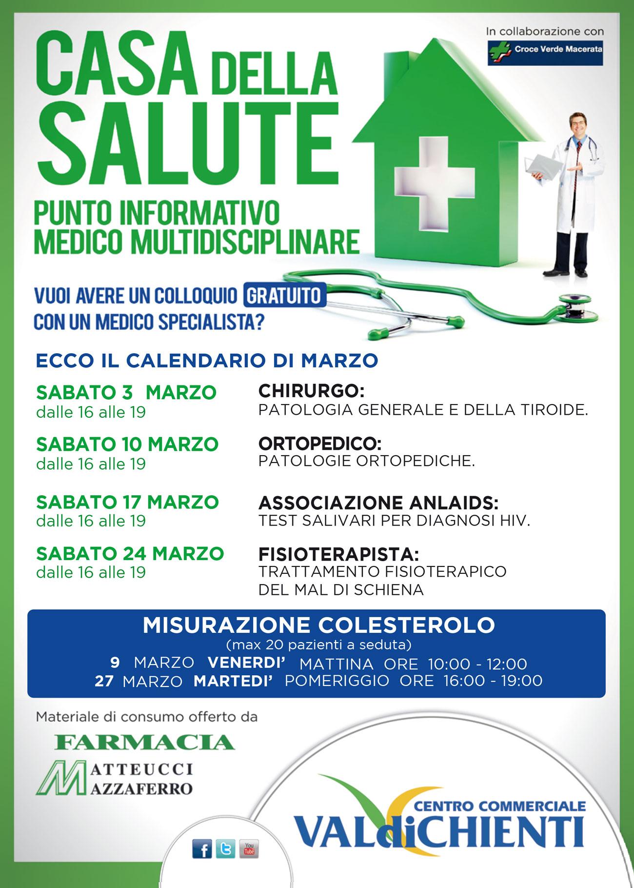 Calendario Della Salute.Casa Della Salute Valdichienti Centro Commerciale